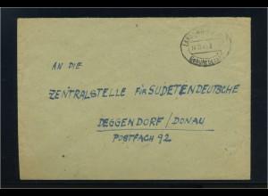 KONTROLLRAT 1945 Gebuehr Bezahlt Beleg LANDSHUT (92114)