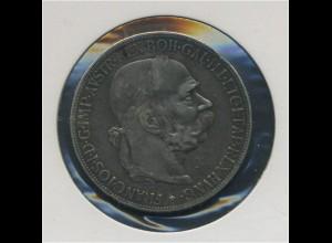 OESTERREICH - 5Kronen 1907 Franz Joseph I. vz (92430)