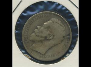 RUSSLAND - 1Rubel 1897, Nikolaus II., ss (92550)