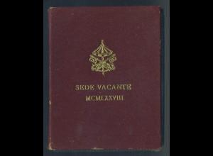 VATIKAN - 500L. 1978 Sede Vacante Originalfolder (92573)