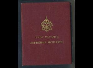 VATIKAN - 500L. 1978 Sede Vacante Originalfolder (92574)