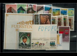 LIECHTENSTEIN Jahrgang 1987 postfrisch kpl ME 32.- (92675)