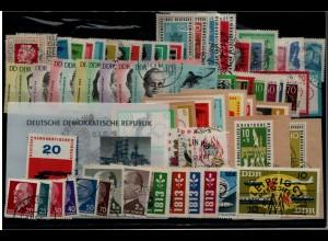 DDR Jahrgang 1963 gestempelt kpl. ME 90.- (93959)
