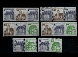 BERLIN 1980 ZD W69-W74 kpl postfrisch (94004)