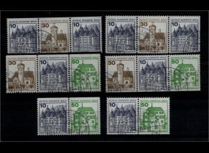 BERLIN 1980 ZD W69-W74 kpl gestempelt (94005)