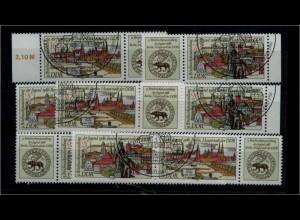 DDR 1986 Nr 3030-31 alle ZD kpl gestempelt (94025)