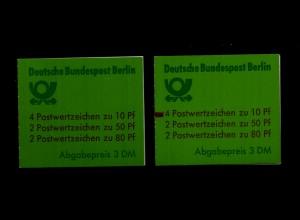BERLIN 1989 MH 14 oZ + mZ postfrisch ME 93.- (94137)