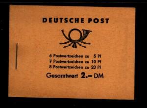 DDR 1960 MH 3b sauber postfrisch (94146)