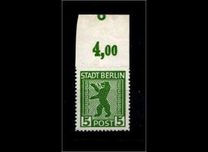 SBZ 1945, Nr 1ABux OR mit Fehlschnitt (94189)
