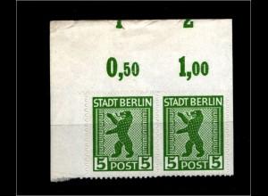 SBZ 1945, Nr 1ABux OR mit Fehlschnitt (94190)