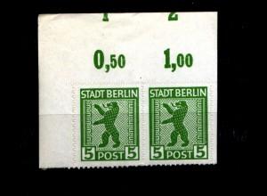 SBZ 1945, Nr 1ABux OR mit Fehlschnitt (94191)