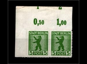 SBZ 1945, Nr 1ABux OR mit Fehlschnitt (94193)