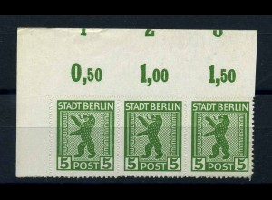 SBZ 1945, Nr 1ABux OR mit Fehlschnitt (94194)