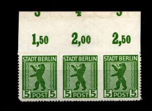 SBZ 1945, Nr 1ABux OR mit Fehlschnitt (94197)