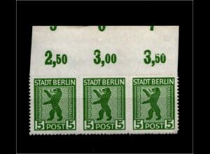 SBZ 1945, Nr 1ABux OR mit Fehlschnitt (94201)