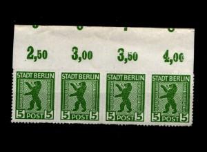 SBZ 1945, Nr 1ABux OR mit Fehlschnitt (94203)