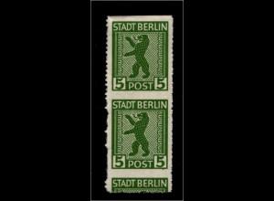 SBZ 1945, Nr 1AB mit verschobenem Durchstich (94229)