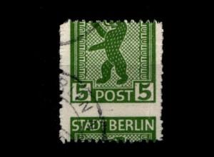 SBZ 1945, Nr 1AB mit verschobenem Durchstich (94236)
