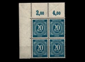 SBZ 1949 Lot auf Steckkarte gestplt/*/** (94453)