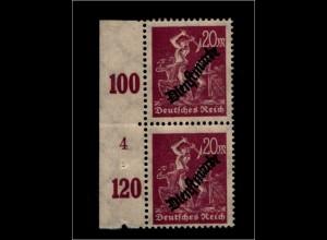 DEUTSCHES REICH 1923 Nr D75 mit Plattennummer: 4 (94629)