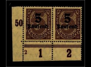 DEUTSCHES REICH 1923 Nr D89 mit Plattennummer: 2 (94630)