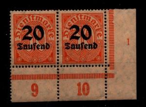 DEUTSCHES REICH 1923 Nr D90 mit Plattennummer: 1 (94631)