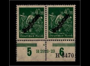 DEUTSCHES REICH 1923 Nr D77 mit Hausauftragsnummer (94698)