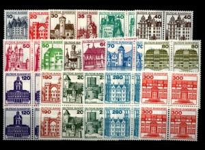 BUND Lot Burgen VIERERBL. postfrisch ME 150.- (94738)