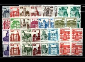 BERLIN Lot Burgen VIERERBL. postfrisch ME 140.- (94741)