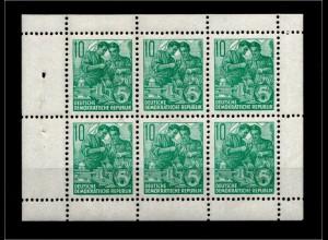 DDR 1960 HBl. 8A sauber postfrisch (94865)