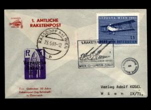 OESTERREICH Raketenpostbeleg aus 1961 (94898)