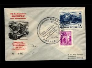 OESTERREICH Raketenpostbeleg aus 1962 (94899)