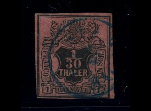 HANNOVER 1851 Nr 3 sauber gestempelt (95799)