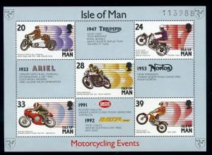 ISLE OF MAN 1993 Motivblock MOTORRAD postfrisch (95941)