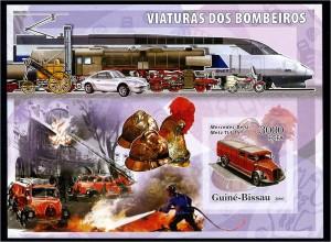 GUINEA-BISSAU Motivblock: AUTOS postfrisch (95948)