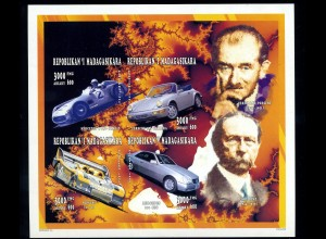 MADAGASKAR 1996 Motivblock: AUTOS postfrisch (95955)