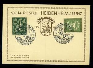 BUND 1958 SST-Beleg ansehen (96084)