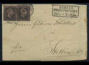 PREUSSEN 1850, Nr. 2 Paar auf Brief (96285)