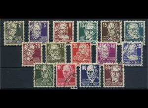 DDR 1952/1953 Nr 327-341 gestempelt (96289)