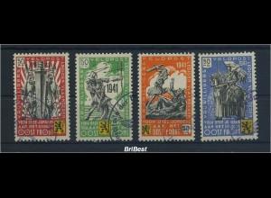 II.WK BELGIEN 1941 Nr I-IV gestempelt (96307)