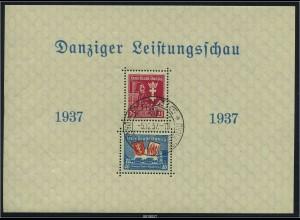 DANZIG 1937 Block 3I gestempelt (96375)