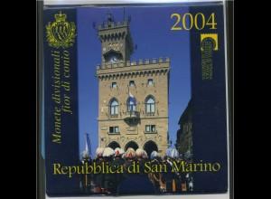 SAN MARINO - KMS 2004 im Originalfolder (96386)