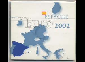 SPANIEN - KMS 2002 im Originalfolder (96395)
