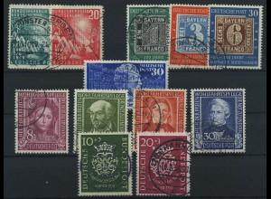 BUND 1949, Nr. 111-120 gestempelt (96595)