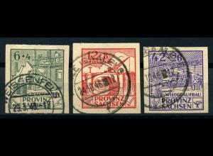 SBZ 1945, Nr. 87-89B gestempelt (96701)