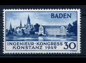 FZ BADEN 1949, Nr. 46II postfrisch (96718)