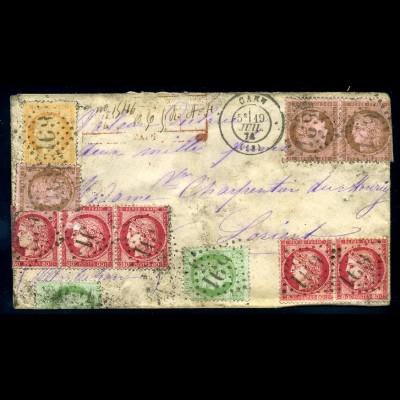 FRANKREICH 1871, Nr. 49K BRIEF!!! (96732)