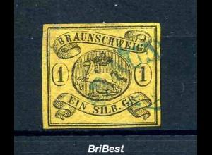 BRAUNSCHWEIG 1853 Nr 6 gestempelt (80.-) (97646)