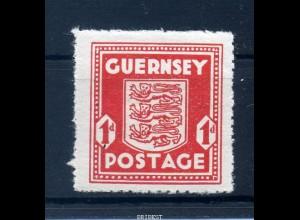 BES II.WK GUERNSEY 1941 Nr 2 postfrisch (97682)