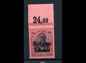 LP BELGIEN 1914 Nr 7 OR Platte B postfrisch (97769)